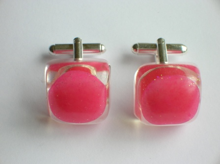 Tooty Fruity sweet cufflinks (pink)