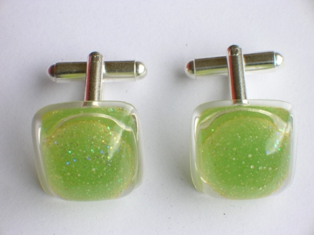 Jelly Tot sweet cufflinks (green)