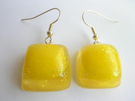 Tooty Frooty sweet earrings (yellow)