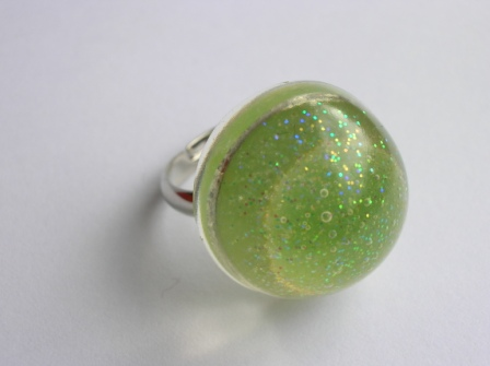 Jelly tot sweet ring (round and green)