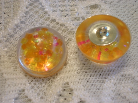 Handmade buttons containing seed beads (5 buttons)
