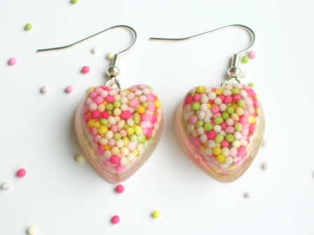 Cake sprinkle (100s and 1000s) earrings