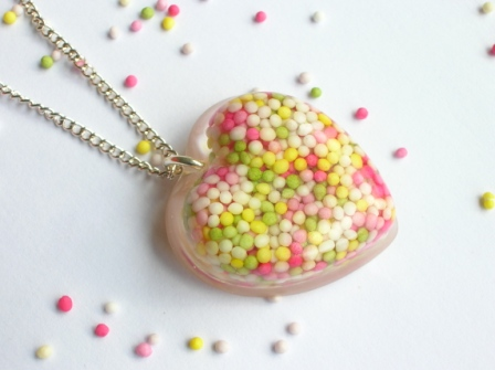 100s and 1000s heart pendant/necklace