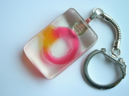Haribo sweet ring keyring