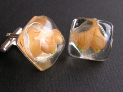 Onion Cufflinks - Vegetable Jewellery