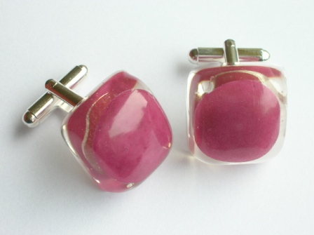 Tooty Frooty sweet cufflinks (purple)